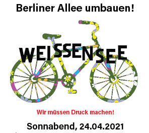 Aufruf zur Fahrraddemo auf der Allee am 24. April!